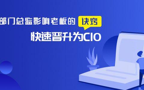 IT部门总监影响老板的诀窍,快速晋升为CIO
