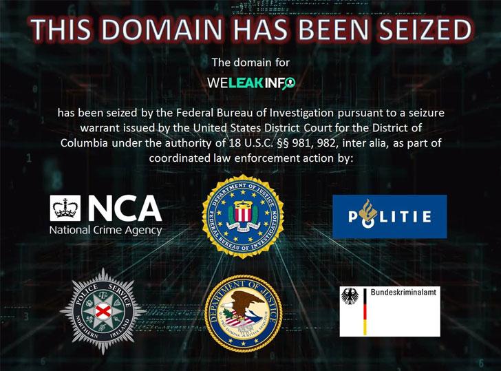 警方逮捕了21名购买被破坏个人数据的weeleakinfo客户